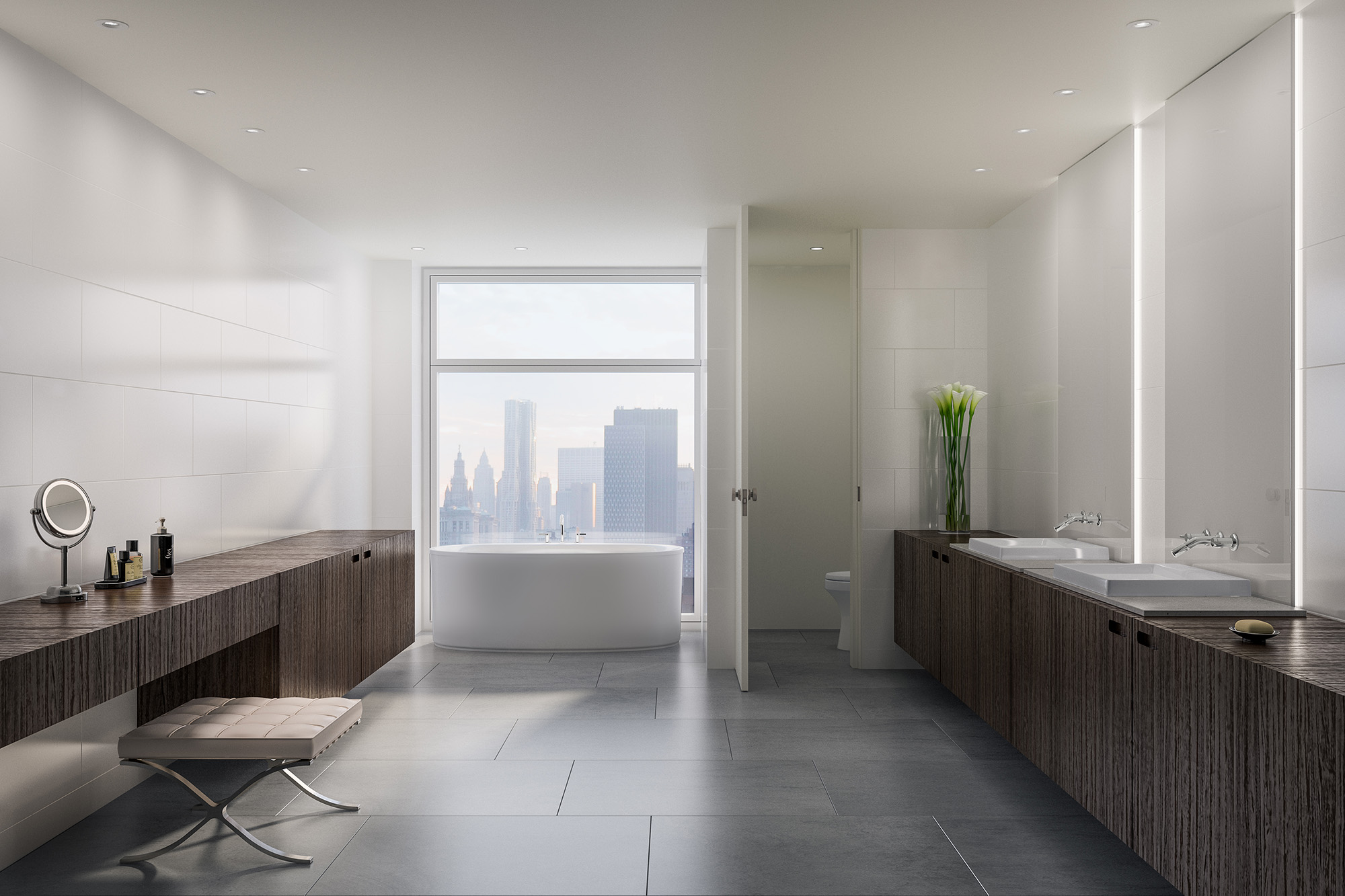 Rendering New York Bathroom