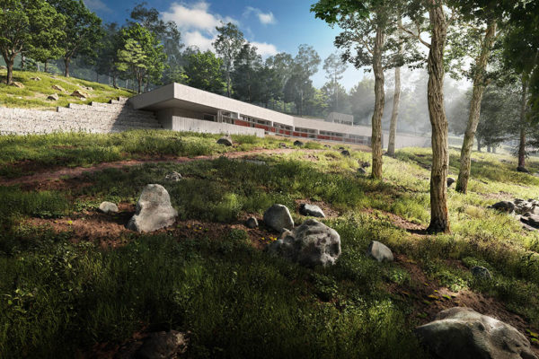 3d renderings of new york wolf conservation center concept
