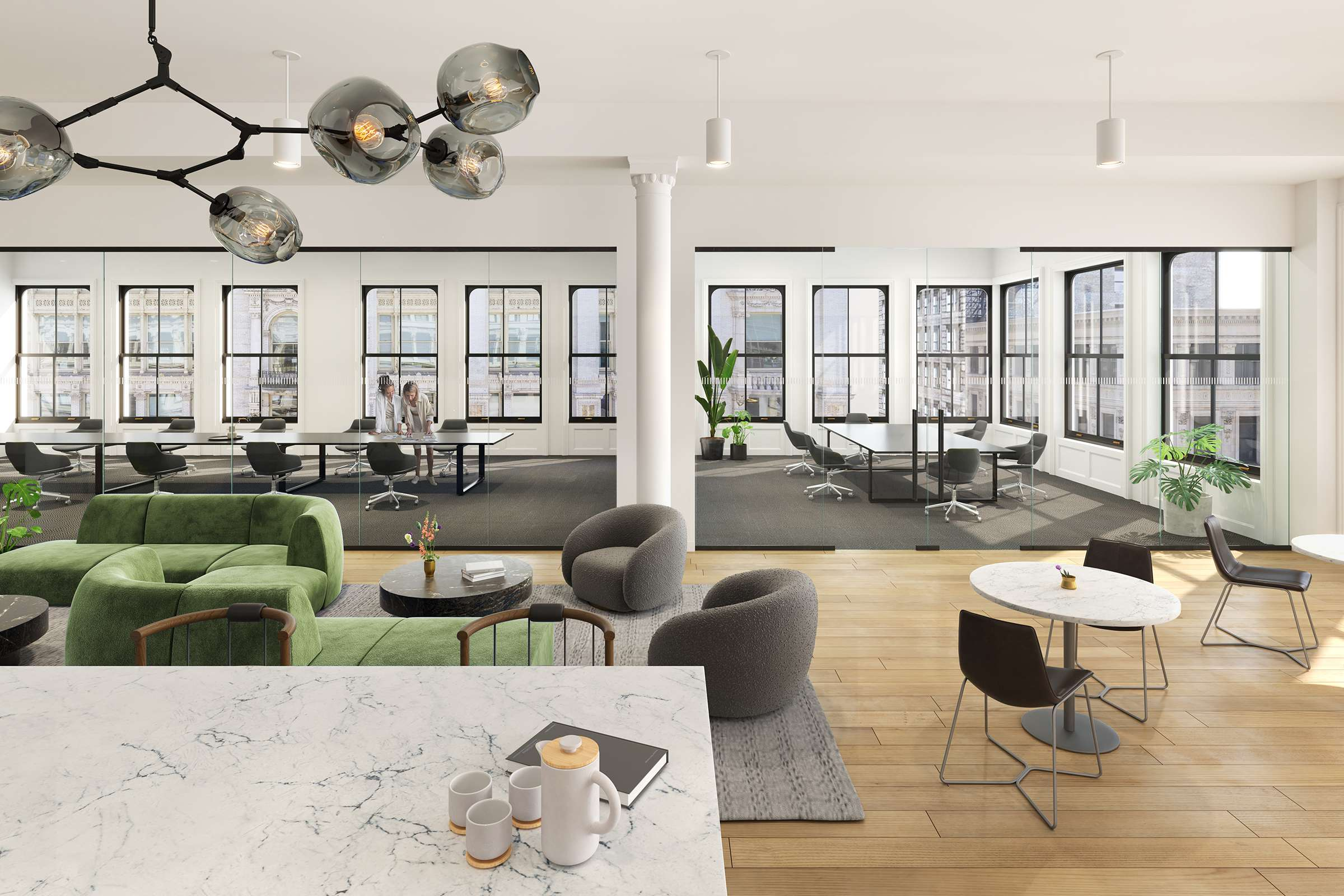 office kitchen rendering nyc