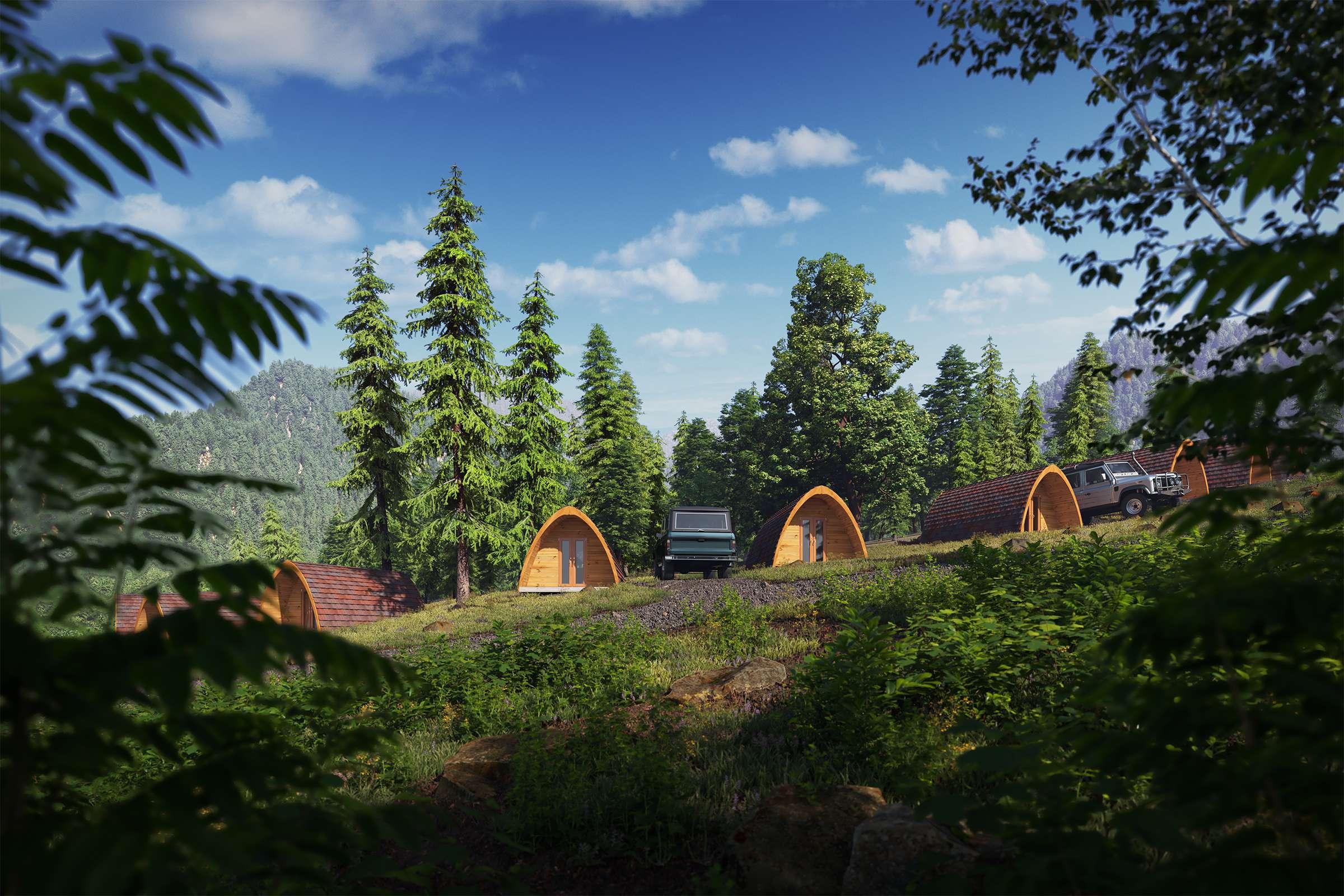 camping hut rendering